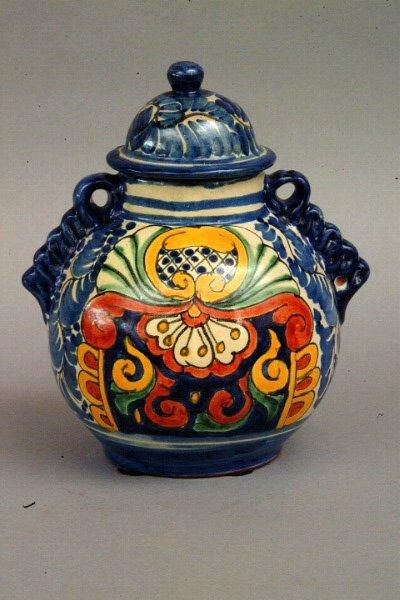 265: Mexican Talavera Jar, 20thc.