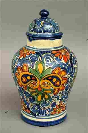 Mexican Talavera Jar, 20th c.