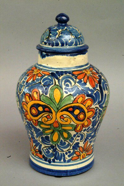 266: Mexican Talavera  Jar, 20th c.