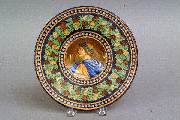 275: Italian Majolica Portrait Plate