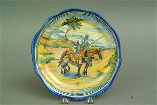 Talavera Don Quixote Plate