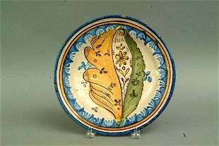 Spanish Talavera Plate, 18thc.