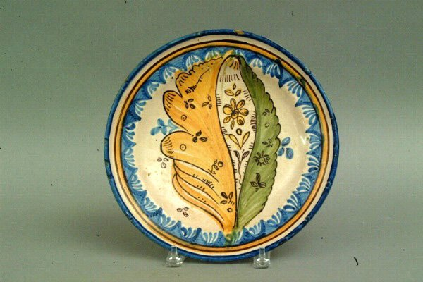 278: Spanish Talavera Plate, 18thc.