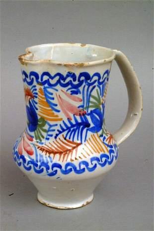 Sicilian Pottery Jug, 20th c.