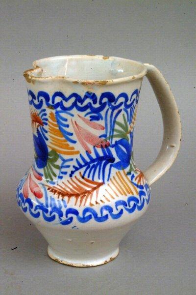 283: Sicilian Pottery Jug, 20th c.