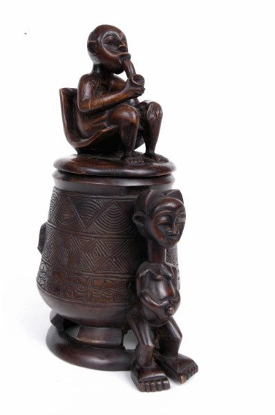 14: Carved African Figural Box