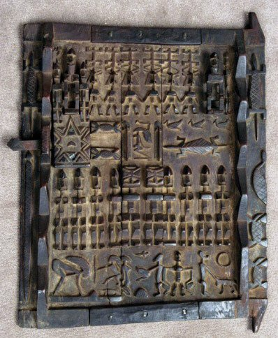 17: Carved African Grain Door