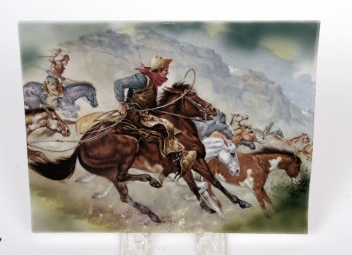 21: RPM Porcelain Cowboy Plaque