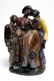 50: WPA Black Americana Sculpture