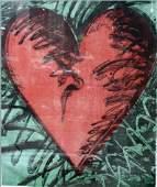 84 Jim Dine Heart Wood Cut Print