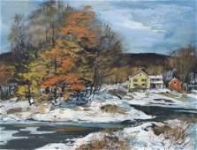 106: Carl Gaertner Landscape Painting