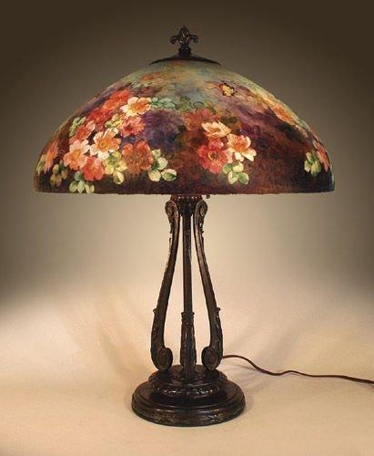 1: Handel 6688 Reverse Painted Lamp