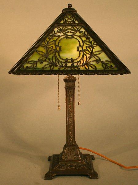 1C: Wilkinson Slag Glass Panel Lamp