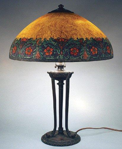 6: Handel Reverse Painted Persian Border Lamp