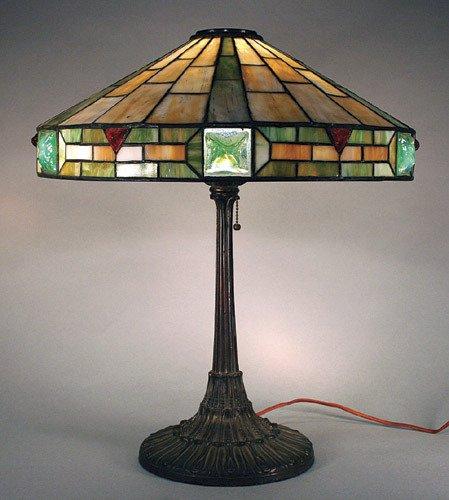 17: Wilkinson Leaded Glass Jewelled Lamp