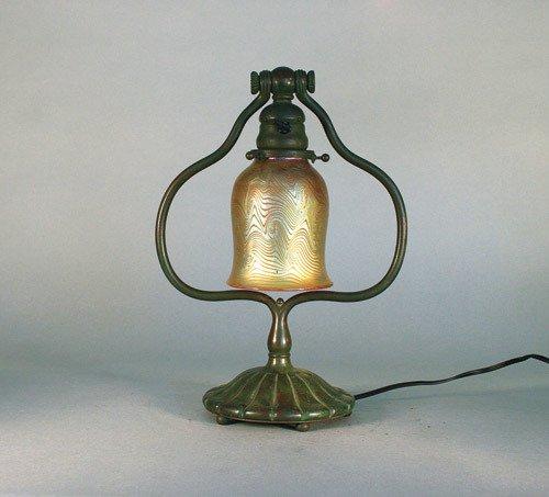 52: Tiffany Studios Desk Lamp + King Tut Shade