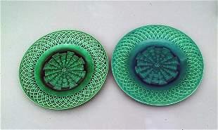 Pair of Minton Majolica Plates, circa 1880