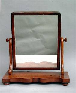 Empire Style Shaving Mirror, 19th c.