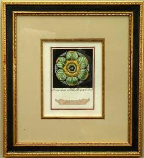 4 Handcolored Engravings, 19th c.