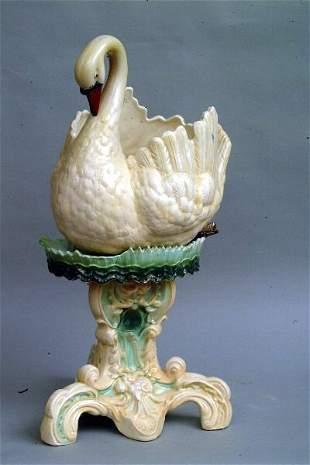 Swan Form Jardiniere & Stand