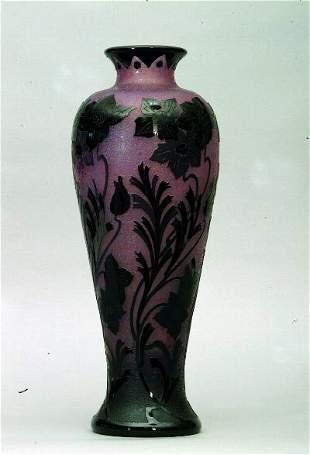 Cameo Glass Vase, Steuben