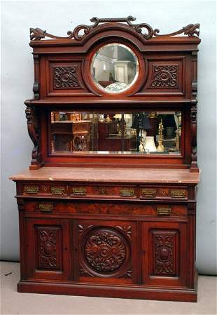 Victorian Mirrored Sideboard