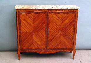 French Marble Top Chest, late 19th c.