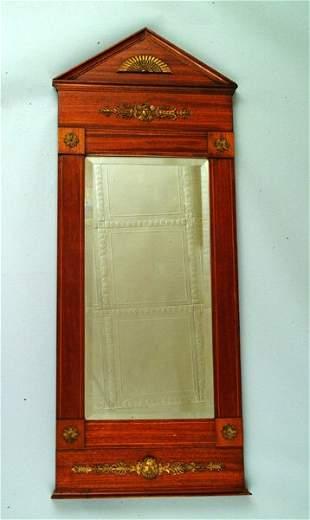 19thc. French Mahogany Mirror