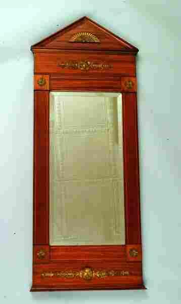 57: 19thc. French Mahogany Mirror