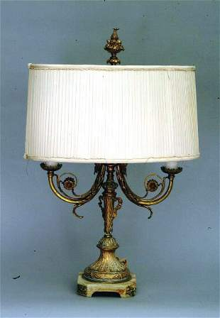 Bronze Dore Bouillote Lamp