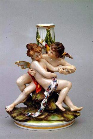 Cupid and Psyche Lamp Base