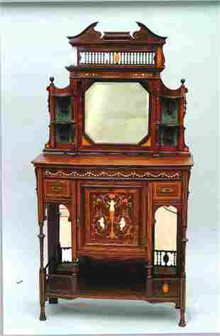 Diminutive Marquetry Cabinet, 19th c.