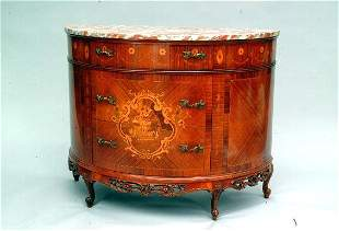French Demi-Lune Commode