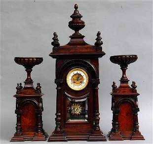 Mantel Garniture, Late 19th c.