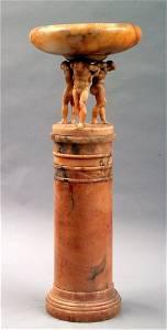 71: Figural Alabaster Pedestal