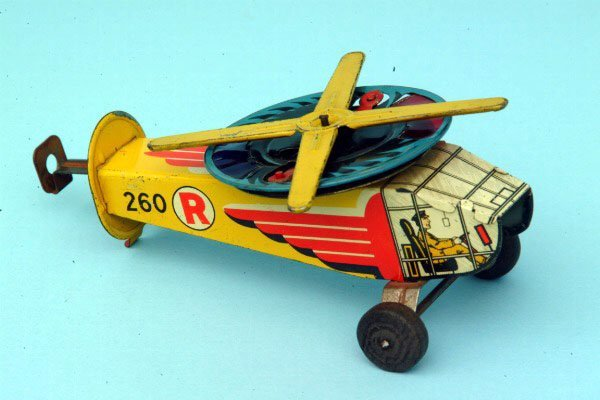 242: Tin Toy Helicopter Toy