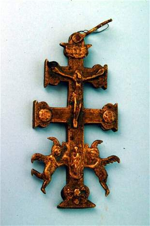 Continental Brass Reliquary