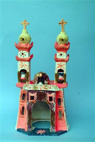 Mexican Pottery Chapel Votive