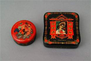 Two Russian Lacquer Boxes