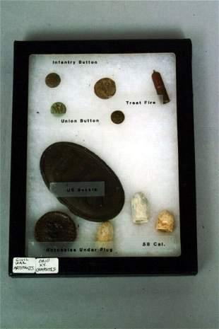 A Cased Set of Civil War Artifacts