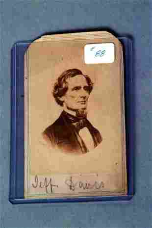 Jefferson Davis Cabinet Card
