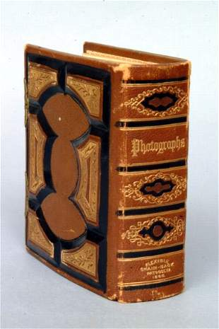 Victorian Leather Bound Photo Album