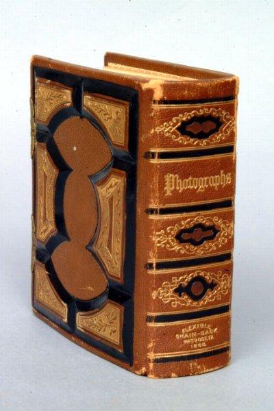 16: Victorian Leather Bound Photo Album