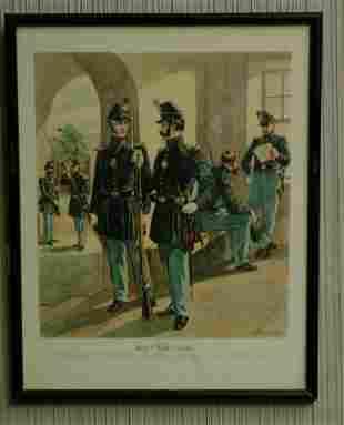 Set of Four H.A. Ogden Civil War Prints