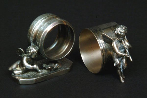 133: Two Victorian Fairy Figural Napkin Rings