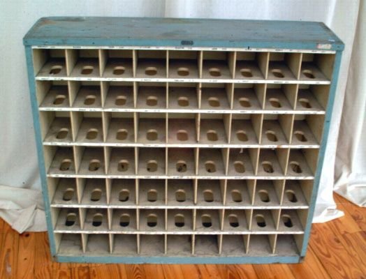 341A: Primitive Wooden Mail Sorting Rack - 2