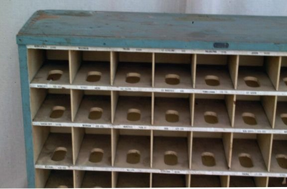 341A: Primitive Wooden Mail Sorting Rack - 3