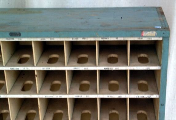 341A: Primitive Wooden Mail Sorting Rack - 4