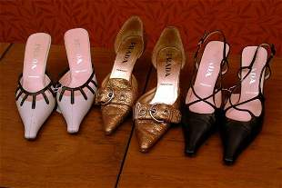 Three Pairs of Prada Shoes