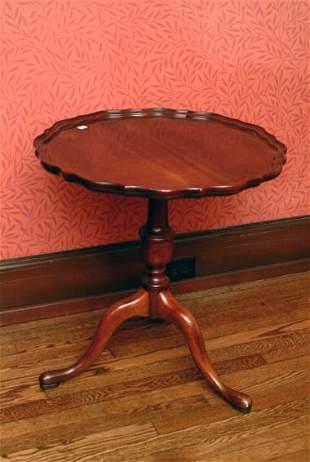 Vintage Pie Crust Table